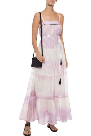 LEMLEM Berhan embroidered dégradé cotton-gauze maxi dress