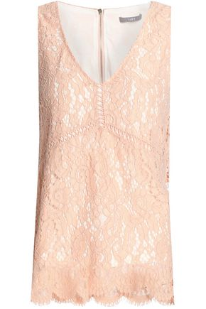 TART COLLECTIONS Lattice-trimmed corded lace top