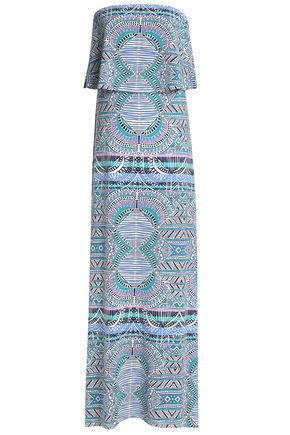 TART COLLECTIONS Aeryn strapless printed stretch-modal jersey maxi dress
