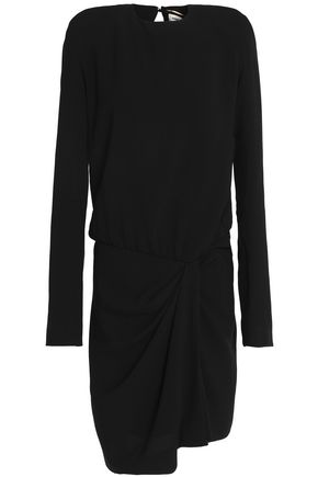 SAINT LAURENT Draped crepe dress