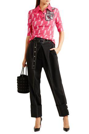 b1e7053f4668 MIU MIU Embellished jacquard-knit wool-blend top