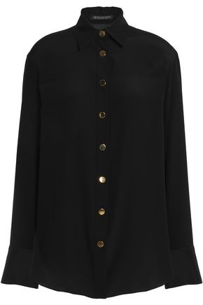 BALMAIN Silk-crepe shirt