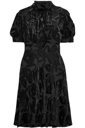 McQ Alexander McQueen Gathered devoré-chiffon mini dress
