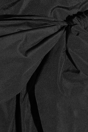 ALEXACHUNG ストラップレス リボン付き タフタ ワンピース