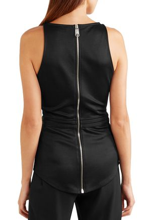 VERSUS VERSACE Buckle-embellished stretch-knit top