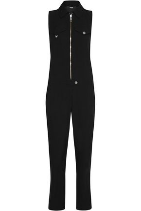 VERSUS VERSACE Button-detailed crepe jumpsuit
