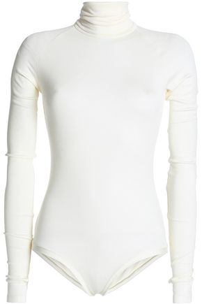 ALIX Ribbed stretch-modal jersey turtleneck bodysuit