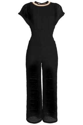 MAJE Open-knit jumpsuit