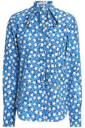 VALENTINO Printed silk-crepe shirt