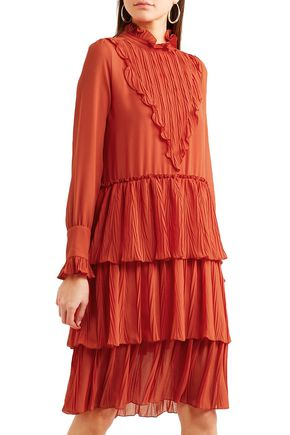 SEE BY CHLOÉ Tiered ruffle-trimmed georgette dress
