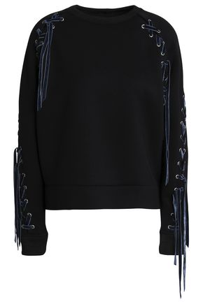 MAJE Lace-up jersey sweatshirt