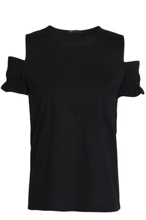 MAJE Trina cold-shoulder cotton-jersey top