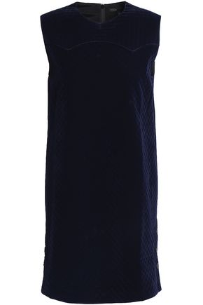 Riera Quilted Velvet Mini Dress by Maje