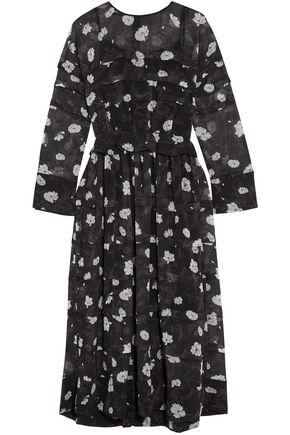 CARVEN Ruffle-trimmed floral-print chiffon midi dress