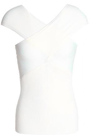 MAJE Ribbed stretch-knit top
