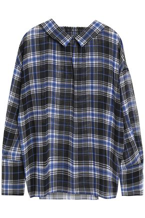 MAJE Checked voile blouse