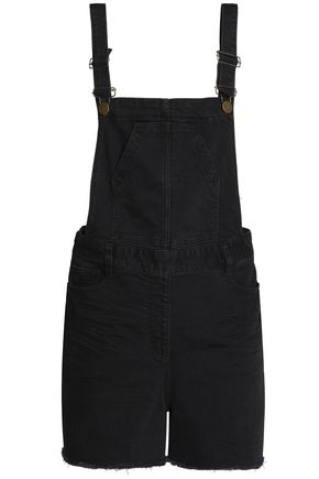 MAJE Frayed denim overalls