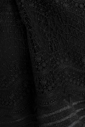MAJE Lizie paneled lace top