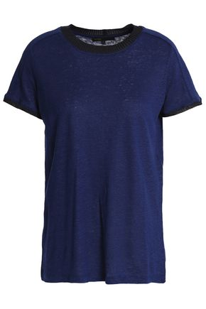 MAJE Slub linen-jersey T-shirt