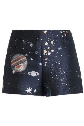VALENTINO Printed twill shorts