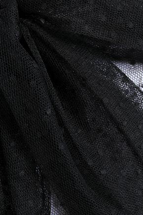 VALENTINO GARAVANI Pussy-bow point d'esprit blouse