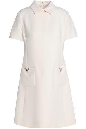 VALENTINO GARAVANI Wool and silk-blend crepe mini dress