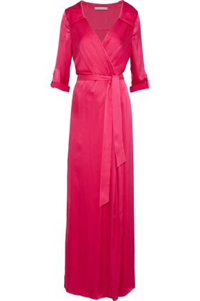 ALICE + OLIVIA Bayley wrap-effect silk-blend satin maxi dress
