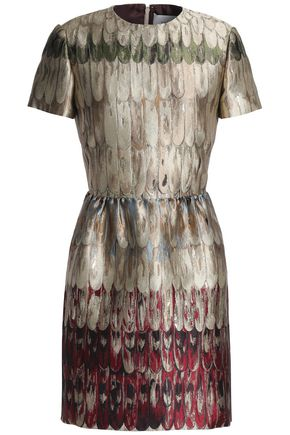 VALENTINO Flared brocade mini dress
