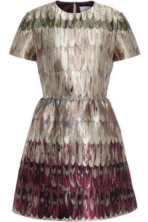 VALENTINO Metallic brocade mini dress