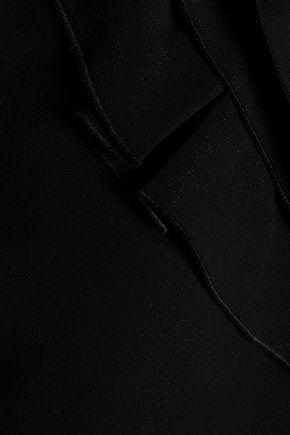 VALENTINO One-shoulder ruffled crepe mini dress