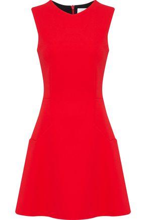 VICTORIA BECKHAM Fluted crepe mini dress