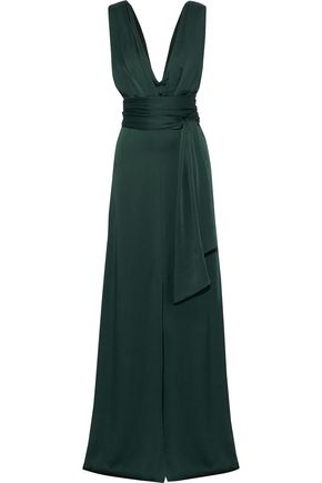 VICTORIA BECKHAM Satin-crepe gown