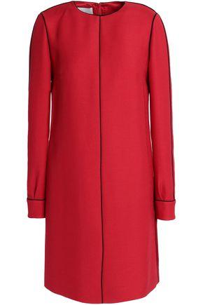VALENTINO Wool and silk-blend mini dress
