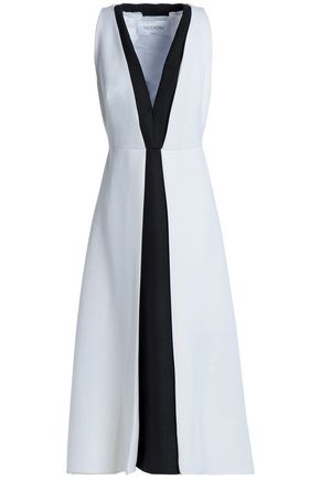 VALENTINO Two-tone wool midi dress