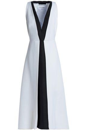 VALENTINO Two-tone wool midi dress