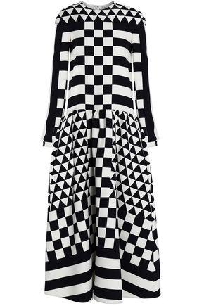 VALENTINO GARAVANI Printed wool and silk-blend twill midi dress