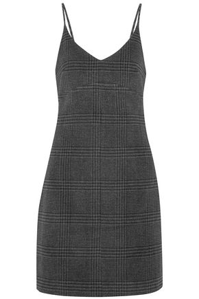 GANNI Woodside checked wool-blend mini dress