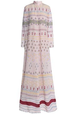 VALENTINO | Valentino Flared Silk Crepe De Chine Gown | Goxip