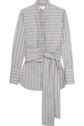 VICTORIA, VICTORIA BECKHAM Belted striped cotton shirt