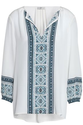 JOIE Printed silk crepe de chine blouse