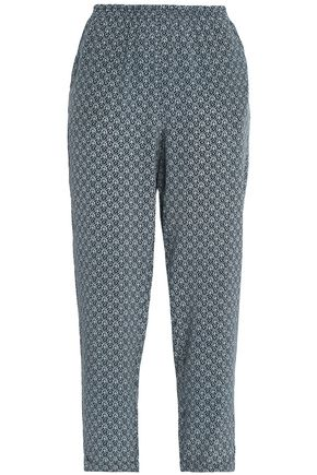 JOIE Printed silk tapered pants