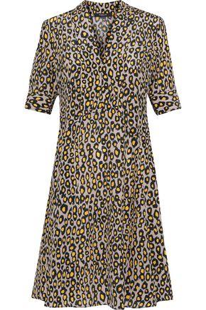 DEREK LAM Leopard-print silk crepe de chine shirt dress