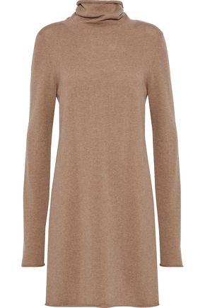 n:PHILANTROPY City lace-up wool and cashmere-blend turtleneck mini dress