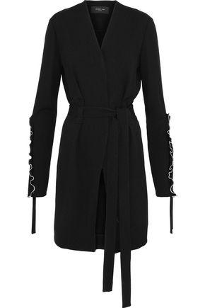 DEREK LAM Ruffle-trimmed crepe jacket