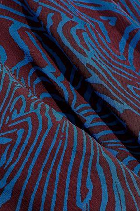 DEREK LAM Printed silk-georgette mini dress