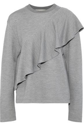 DIANE VON FURSTENBERG Ruffled knitted sweatshirt