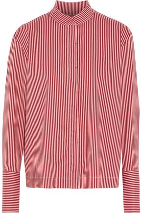 DIANE VON FURSTENBERG Striped cotton-blend poplin shirt