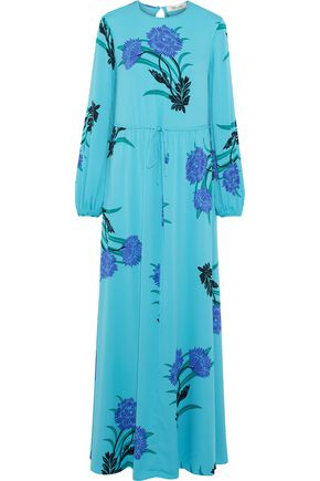 DIANE VON FURSTENBERG Floral-print silk-blend maxi dress