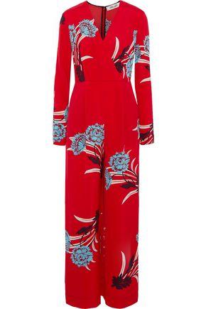 DIANE VON FURSTENBERG Floral-print crepe jumpsuit