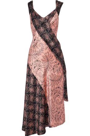 DIANE VON FURSTENBERG Floral-print silk-satin midi dress